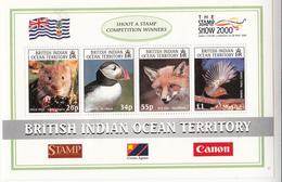 2000 British Indian Ocean Territory Photos Birds Souvenir Sheet Complete Set Of 1  MNH - British Indian Ocean Territory (BIOT)