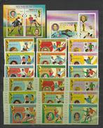 EQUATORIAL GUINEA  Football Soccer World Cup 1974-IV  9v.+SS Perf.+imperf. - Wereldkampioenschap