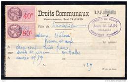 Fiscal, Fiscaux, Droits Communaux Landivisiau 1939 - Fiscale Zegels