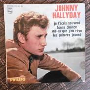 45 TOURS  EP  434.862  4 TITRES  JOHNNY HALLYDAY  JE T ECRIS SOUVENT - Rock