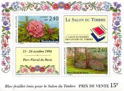 France.bloc No 15 De 1993.parc Floral.n**. - Blocs & Feuillets