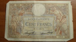 1936 - France - CENT FRANCS, L. O. Merson, BR.2-1-1936.BR. G.50141  202 - 1871-1952 Circulated During XXth