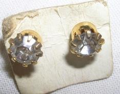 ORECCHINI IN METALLO - CHIODINO CON BRILLANTINO - Earrings