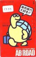 Télécarte Japon * TORTUE  (1233)  PHONECARD JAPAN 110-011 * TURTLE * TELEFONKARTE * SCHILDKRÖTE * SCHILDPAD - Turtles