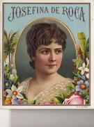 Belle Etiquette  Gaufrée Cigare Josefina De Roca 12x10,5cm - Boites D'allumettes - Etiquettes