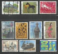 TEN AT A TIME - JAPAN - LOT OF 10 DIFFERENT 21 - USED OBLITERE GESTEMPELT USADO - Colecciones & Series