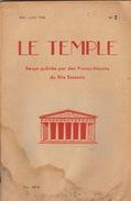 Franc Maçon Maçonnique Revue LE TEMPLE Mai 1946 En 94 Pages - Journaux - Quotidiens