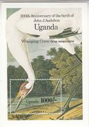 1985 Uganda Audobon Birds Whooping Crane Souvenir Sheet Complete Set Of 1 MNH - Uganda (1962-...)