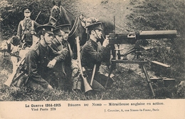 Cpa  Mitrailleuse Anglaise En Action - Ausrüstung