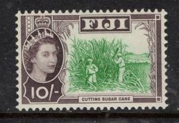 """FIJI  1962    """"10/-  - Cutting Sugar Cane""""   MNH   (**) - Fiji (1970-...)"""