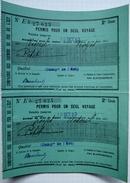 """70 - Vesoul - """"Permis Pour 1 Seul Voyage"""" De Vesoul à Troyes- Compagnie Des Chemins De Fer De L'Est - Octobre 1903 - Autres"""