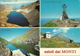 Rifugio Alberto Grassi (Bergamo, Lombardia) Vedute Del Rifugio, Del Pizzo Dei Tre Signori E Dei Laghi D'Inferno E Sasso - Lecco