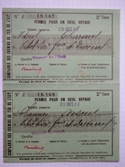 """70 - Vesoul - """"Permis Pour 1 Seul Voyage"""" De Vesoul à Charmes - Compagnie Des Chemins De Fer De L'Est - Octobre 1903 - Autres"""