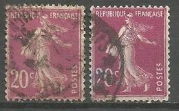 France - F1/251 - Type Semeuse Camée - N°190   2 Ex. Obl. - 1906-38 Sower - Cameo