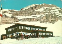 Rifugio M.O. G. Graffer (Trento, Trentino Alto Adige) Panorama Invernale Con La Pietra Grande - Trento