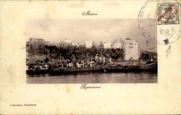 """MAROC ESPAGNOL - Carte Avec Timbre """"Maruecos Espanol"""" ... - Archive Pour Alger - Début 1900 -  P20909 - Spanish Morocco"""
