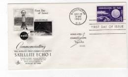 FDC - ESPACE - 15/012/1960 - SATELLITE ECHO1 - Estados Unidos