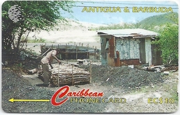 Antigua & Barbuda - Charcoal Burning - 97CATC - 1996, 45.000ex, Used - Antigua And Barbuda