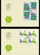 Liechtenstein 2016 First Day Cover Block Of 4 - Europa 2016 - Think Green