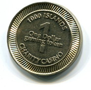 1000 Islands Charity Casino Ontario Canada $1 Gaming Token - Casino
