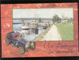 59 Un Bonjour De Bersée édit. JC N) 7.313 Avec Vue Du Pont , Bateau D'excursion , Automobile - Autres Communes