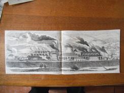 FORGES ET FONDERIES DE L'AVEYRON VUE GENERALE DES FORGES DECAZEVILLE DECOUPIS 19cm/50cm - Sonstige