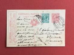INTERO POSTALE PUBBLICITARIO GLI ASSEGNI POSTALI DA FERRARA AD ARGENTA IL 14/7/1916 - Interi Postali