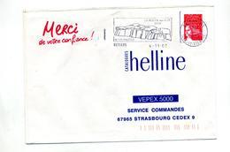 Lettre Flamme Retiers Roche - Poststempel (Briefe)