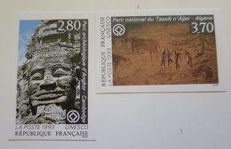 ZFrSN110+11 - RARE - FRANCE Service 1993 - 2 Timbres N° 110 + 111 Non Dentelés - Neufs** - Qualité LUXE - Belle Côte - Neufs