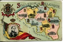 Souvenir De Belgique Les Neuf Provinces Léopold Ier  Montpelier 1906 - Belgio