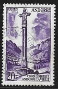 N° 148  ANDORRE FRANCAIS  -  OBLITERE -  1955/58