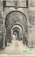Veneto-padova-cittadella Veduta Porta Bassano Interno Animata Primi 900 - Italia