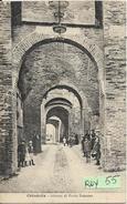 Veneto-padova-cittadella Veduta Porta Bassano Interno Animata Primi 900 - Altre Città