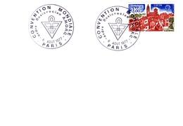 Carte- 6/8/1977 Convention Mondiale Ordre Rosicrucien A.M.O.R.C  Paris - 1961-....