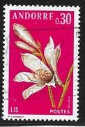 N° 229  ANDORRE FRANCAIS  -  OBLITERE -  1973