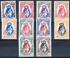 Moçambique, 1929/39, # 34/43, Assistência, MH - Mozambique