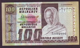 MADAGASCAR - 100 FRANCS / 20 ARIARY Banque Centrale De La République Malgache (1974/1975) Signature L.Rajoabelina. NEUF - Madagascar
