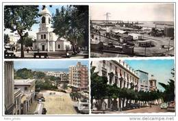 6 Cpsm Algérie, Mostaganem, Port, église, Mairie, Banque De L'Algérie, Vagues, ... - Mostaganem