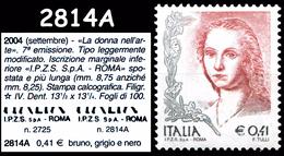 ITALIA Repubblica 2004 Donna Nell'arte 0,41€ Sassone S. N° 2814A 7v. MNH ** Integro - 6. 1946-.. Republic