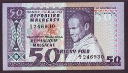 MADAGASCAR - 50 FRANCS / 10 ARIARY Banque Centrale De La République Malgache (1974/1975) Signature L.Rajoabelina. NEUF - Madagascar