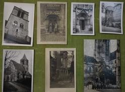Lot De 7 Photos Années 1950, Sens, église Saint Savinien, Remparts, Cathédrale - Lieux