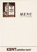 30 Menus De Restaurant Vierges - Publicité Kent - Apollinaris - Martini - Siechen-Bier - Menus