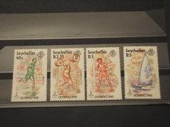 SEYCHELLES - 1980 OLIMPIADI  4 VALORI - NUOVI(++) - Seychelles (1976-...)