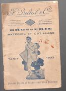 (Bordeaux) Catalogue DELTEIL : Brosserie, Matériel Et Outillage 1933 (F.6846) - Luxembourg