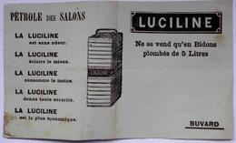 """Buvard - """"LUCILINE"""" Pétrole Des Salons - Gas, Garage, Oil"""