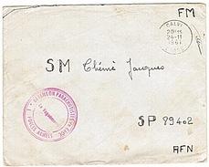 ALGERIE - FORCES ARMEES - PARACHUTISTES - CALVI - BATAILLON DE CHOC - SP 89402 - 1961 - Marcophilie (Lettres)