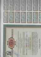 MILANO 1957 SAROM 99  50 OBBLIGAZIONI DA LIRE 1000 CADAUNA CON 26 CEDOLE DOC.273 - Azioni & Titoli