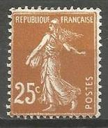 France - F1/277 - Type Semeuse Camée - N°235 * - 1906-38 Sower - Cameo