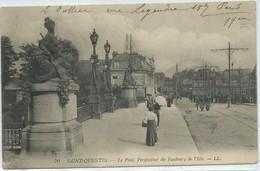 Saint-Quentin-Le Pont-Perspective Du Faubourg De L'Isle-(CPA). - Saint Quentin