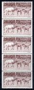SWEDEN 1977 Gotland Ponies 1.40 Kr.. Booklet Pane Of 5  MNH / **.  Michel 993 - Sweden